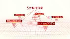 红色科技文字AE模板AE模板