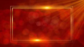 红色党政背景版文字框-循环4视频素材