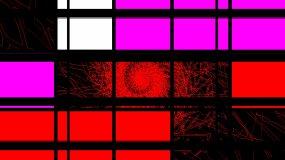 色块方块分屏跑屏质感方形色块视频素材