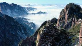 大气黄山风景区唯美航拍视频素材