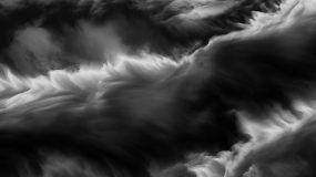 4k-大气黑白水墨烟雾舞台视觉背景视频素材
