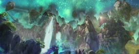 4K迷幻三维夜景动画舞台背景视频素材