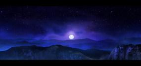 幽静夜景视频素材