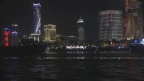 上海滩黄浦江外滩夜景车流视频素材