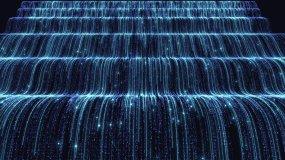4k循环唯美流光光线瀑布背景视频素材