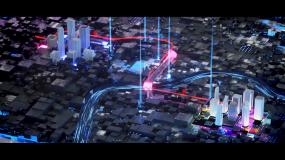 【原创】大气光线科技城市赛博朋克宣传片头视频素材
