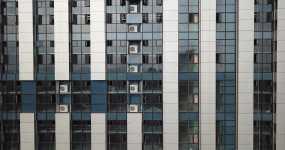 4K航拍杭州新塘街道高楼大厦视频素材