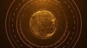 4K科技地球星轨背景循环视频素材
