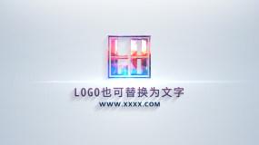 4K简约亮白企业科技LOGO演绎AE模板