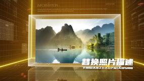 【原创】金色科技图文展示AE模板AE模板