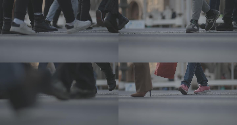 人行道脚步空镜头log2