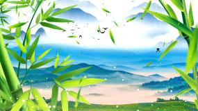 4K水墨中国风竹子山水LED背景视频视频素材