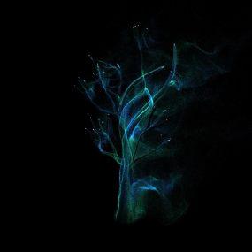 粒子树飘散视频素材