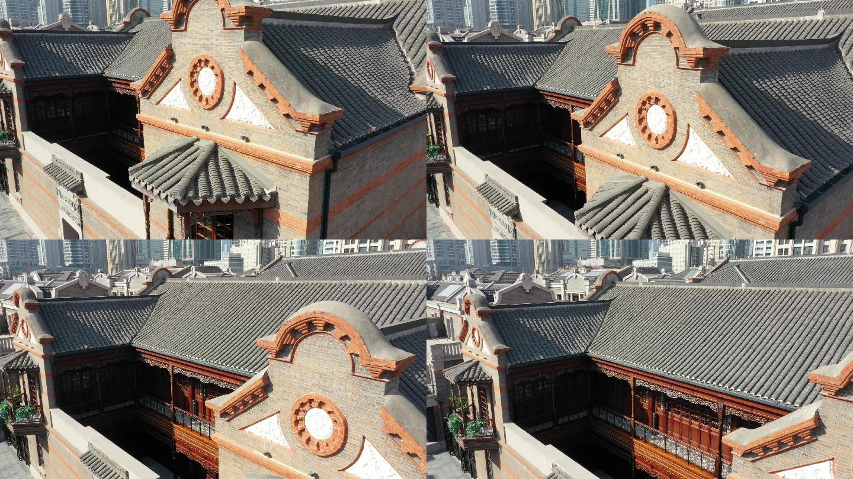 4K原素材-航拍上海老城厢露香园