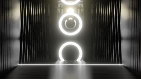 抽象黑白建筑空间穿梭视频素材