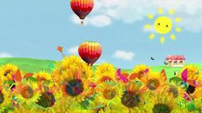 气球向日葵视频素材