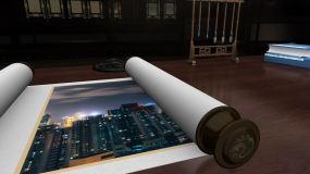 中国风古典卷轴打开动画AE模板AE模板