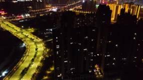 湛江海东新区过年航拍4k视频素材
