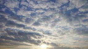 唯美云飘意境视频素材