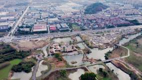 4K航拍调色杭州良渚文化历史遗迹视频素材