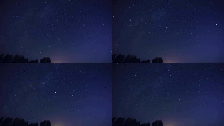 银河星空延时摄影