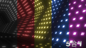 5款彩色LED隧道穿梭VJ视频素材包
