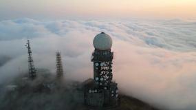 4K原创/气象站/风起云涌/天文台视频素材