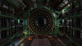 LHC粒子探测器实验室启动视频素材