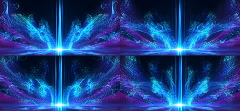 4K唯美流体星空粒子梦幻抒情歌曲舞蹈背景