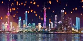 灯火里的中国配乐成品LED视频视频素材