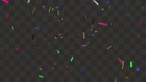 4K礼花彩纸下落-带通道视频素材包