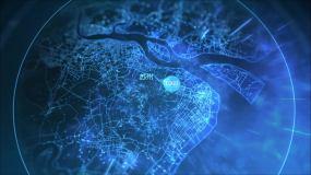 科技地图区位分析AE模板