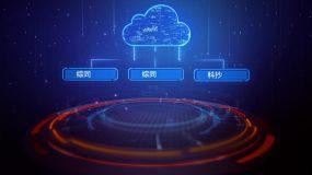 科技云计算文字架构AE模板