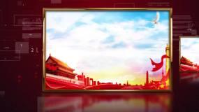 红色科技图片展示AE模板
