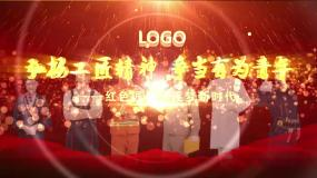 震撼大气金色劳模落版LOGO片头AE模板