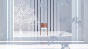 一张椅子视频素材