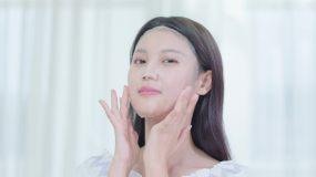 美少女化妆面膜女孩护肤(店铺美容护肤素材视频素材