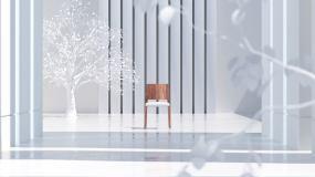 钢琴地产创意空间光影视频素材