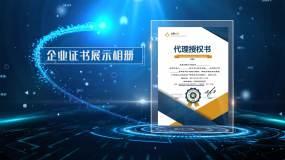 PR企业证书展示Pr模板