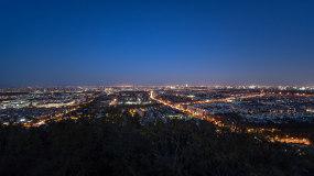 【4K】城市日暮时分-延时日转夜视频素材