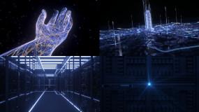 AI智能芯片科技穿梭AE+C4D模板C4D工程