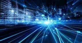 城市通信网概念视频素材