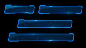 金属科技感字幕条背景视频素材视频素材包