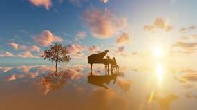 钢琴之境视频素材