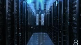 科技机房机房服务中心电子数字过道视频素材