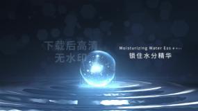 蓝水珠精华分子化妆品润肤细多核胞修复保湿AE模板