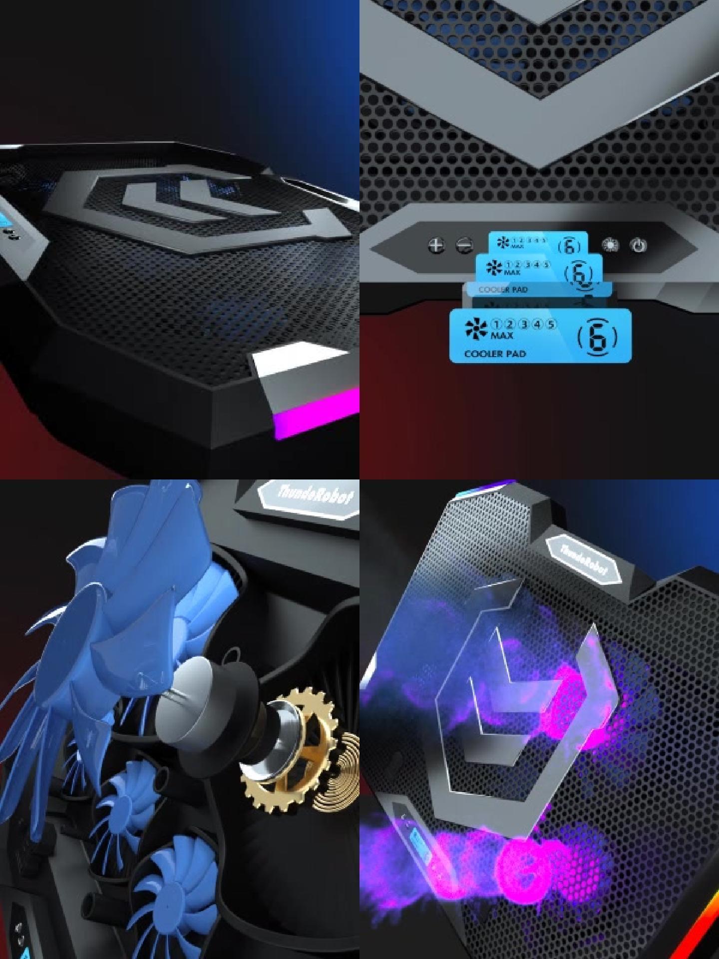 原創筆記本CPU散熱器風扇3d動畫演繹