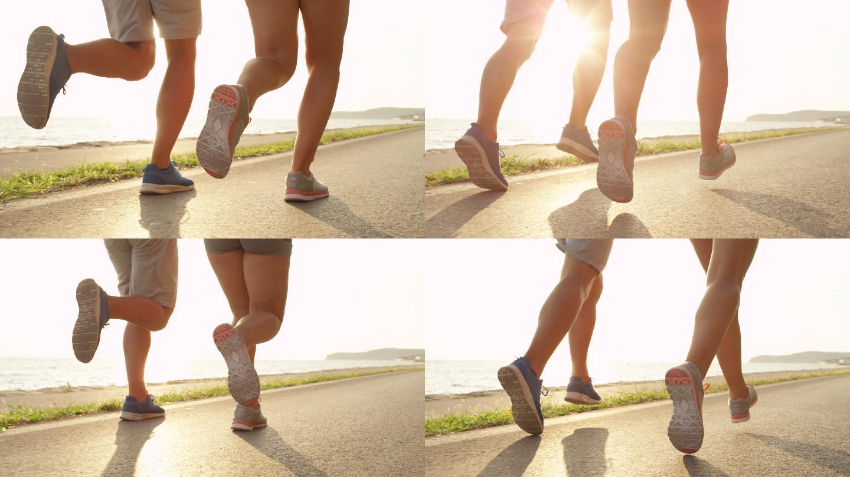 在陽光海岸放松慢跑