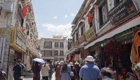 西藏拉薩街景人文生活視頻素材