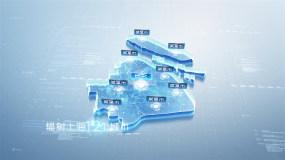 簡潔明亮上海科技地圖(無插件)AE模板
